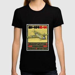 Bf-109 Airplane by Dennis Weber / ShreddyStudio T-shirt