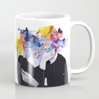 agnes cecile Mugs featuring intimacy on display by agnes-cecile