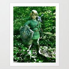 The Legend of Link Art Print