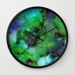 Alcohol Ink 'Galapagos' Wall Clock