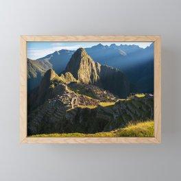 Machu Picchu, Peru Framed Mini Art Print