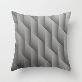 Pantone Pewter Gray Gradient Diamonds, Ombre Geometric Shape Pattern Throw Pillow