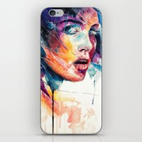 glass iPhone & iPod Skins featuring sheets of colored glass by agnes-cecile