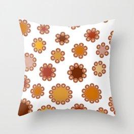 Floral Dots Throw Pillow