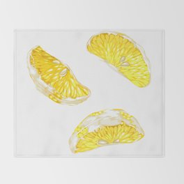 Lemon Slices Graphic Design Throw Blanket