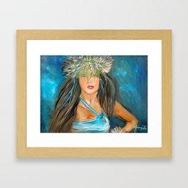 Hula Blues Framed Art Print
