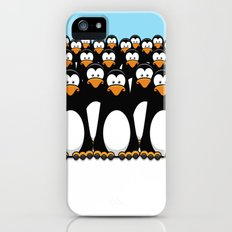 A Crowd of Pensive Penguins iPhone (5, 5s) Slim Case
