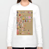 cigarettes Long Sleeve T-shirts featuring Stale Cigarettes by Maison Fioravante - Fine Artist