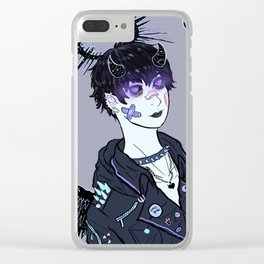 dark angel Clear iPhone Case