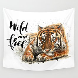 Tiger Wild and Free Wall Tapestry