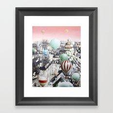 Balloon travel Framed Art Print