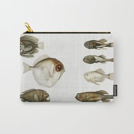 Deep sea fish varieties set  from Resultats des Campagnes Scientifiques by Albert I  Prince of Monac Carry-All Pouch