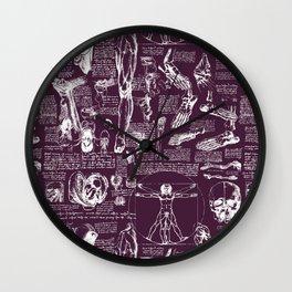 Da Vinci's Anatomy Sketchbook // Blackberry Wall Clock
