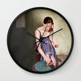 Painting Toenails Wall Clock