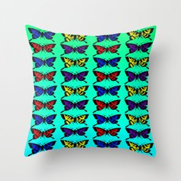 A Butterfly Pattern Throw Pillow