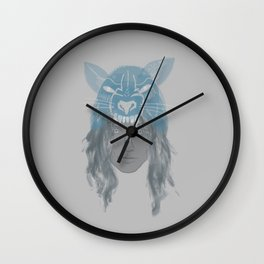 Little Wolf Girl Wall Clock