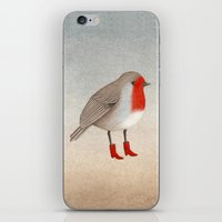 robin iPhone & iPod Skins featuring Robin by Hana Stupica