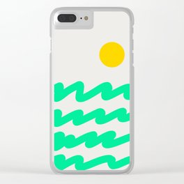 Abstract Landscape 07 Clear iPhone Case