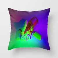 pills Throw Pillows featuring Pills by Mingo