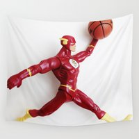 flash Wall Tapestries featuring Flash Jordan by Beastie Toyz