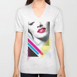 Pop Art Girl Unisex V-Neck