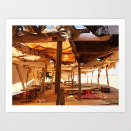 Bedouin Camp in Israel Art Print