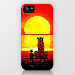 Watching The Sunset iPhone Case
