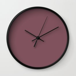Solid Dull Purple Color Wall Clock