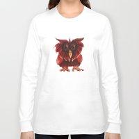 transparent Long Sleeve T-shirts featuring Hoot Transparent by Megan Coyne