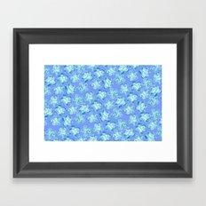 Wallflower - Colony Blue Framed Art Print