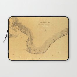 Map of Galveston Bay 1851 Laptop Sleeve