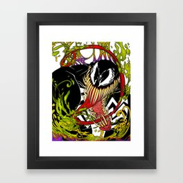 Neon Venom Framed Art Print