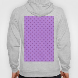 Burgundy Red on Lavender Violet Snowflakes Hoody