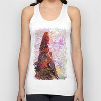 kandinsky Tank Tops featuring DayDreaming - Intense Multi-Color Vibrant Abstract Mixed Media Digital Painting by Mark Compton