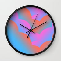 geisha Wall Clocks featuring Geisha by Tyler Spangler