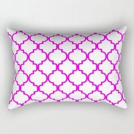 Moroccan Trellis (Magenta & White Pattern) Rectangular Pillow