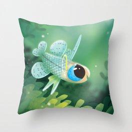 Little Fish Pseudomugil Getrudae Throw Pillow