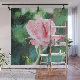 Pink Rose Wall Mural