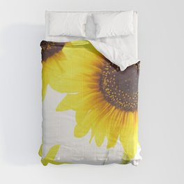 #Three  #Sunflowers for #decorativ #home #decors Comforters