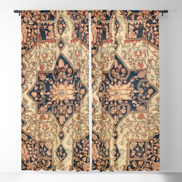 Ferahan  Antique West Persian Rug Print Blackout Curtain