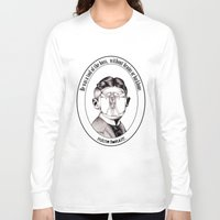 kafka Long Sleeve T-shirts featuring Franz Kafka - Metamorphosis by politebastART