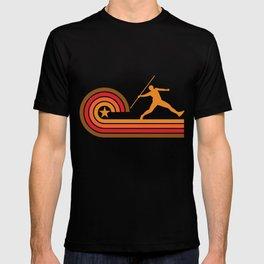 Retro Style Javelin Throw Vintage Track T-shirt