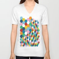 honeycomb V-neck T-shirts featuring Honeycomb by Project M