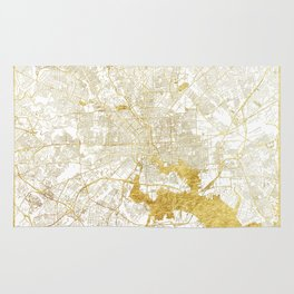 Baltimore Map Gold Rug