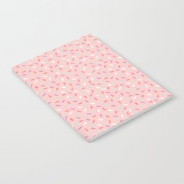 Pink Sprinkle Confetti Pattern Notebook