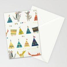 Wolf Pattern Stationery Cards