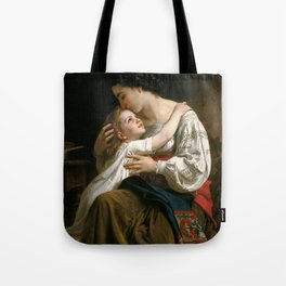 "William-Adolphe Bouguereau ""Getting Up (Le Lever)"" Tote Bag"