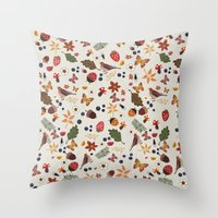botanical Throw Pillows featuring Botanical by Kakel