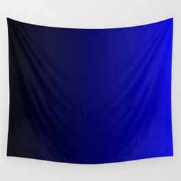 Rich Vibrant Indigo Blue Gradient Wall Tapestry