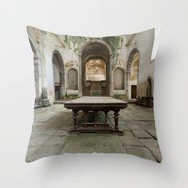 The old monastery Throw Pillow